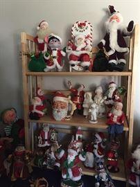 Lots of collectible santas