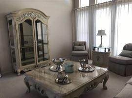 Henredon Hutch , Oversized  Marble Coffee Table