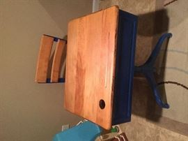Vintage Child's desk with chair