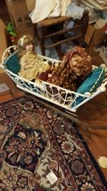 Antique baby carriages and more