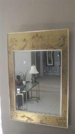 Oriental wall mirror