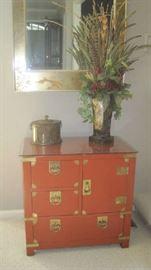 Oriental chest with brass