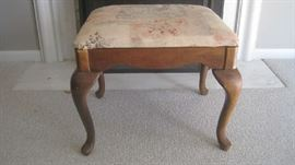 Large upholstered bench-Queen Anne style - by American Drew Inc.
