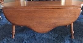 Vintage Scalloped Edge, Turned Leg, Dropleaf Coffee Table Portland, Maine