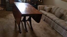 DUNCAN PHYFE  antique drop leaf table also have chairs and buffet