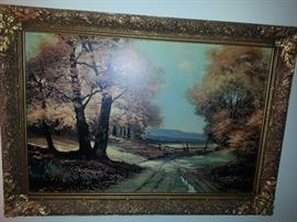BEAUTIFUL PRINT WITH ORNATE FRAME
