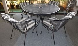 MFM010 Metal Patio Table and Chairs Set