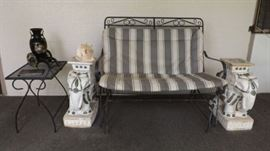 MFM012 Metal Patio Rocker Loveseat