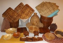 MFM030 Baskets and Wooden Items