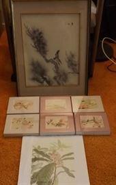 MFM038 Framed Oriental Style Bird Pictures