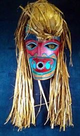 """Makah Mask By David Della """"Wild Woman of the Woods"""""""