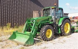 John Deere 6M Series Tractor, Model 6115M With H340 Front Loader Attachment