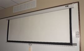 """Elite Screens, 64""""L x 48""""W Wall Mount Retractable Projection Screen, Overall 70.5""""W"""