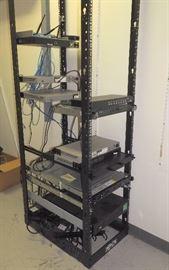 Tripp-Lite Server Rack, Tripp-Lite Smart Pro UPS, IBM System X3550M4, Cisco 28 Port Switch SG300, Qty 3, Unitrends Recovery 6C2 Switch, More