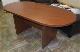 """Oval Conference Table, 29.5""""H x 71""""W x 35.5""""D"""
