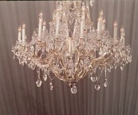 Very large crystal chandelier (already disconnected and in box)