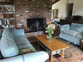 Couches, Coffee Table, Rug, Books