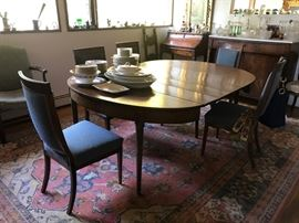 Biedermeier Style Dining Table and 5Chairs