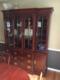 Knob Creek Dining room set - china cabinet