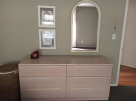 master bedroom set - dresser and matching mirror