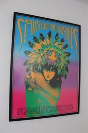 Vintage 1986 Siouxsie and the Banshees tour poster, numbered and signed by Victor Moscoso