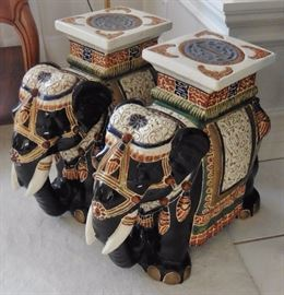 Pair of elephant stools