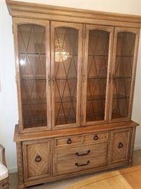 Matching Thomasville china cabinet