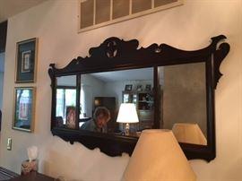 Vintage hallway mirror