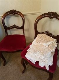 vintage linens and doilies