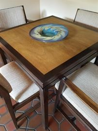 Dunbar Edward Wormley flip-top game/dining table & 2/2 chairs