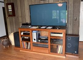 Entertainment cabinet,  Panasonic TV,