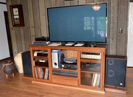 Entertainment cabinet,  Panasonic TV,