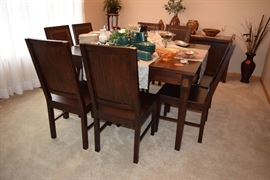 8 chair square dining room table