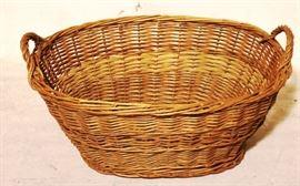 Wicker gathering basket