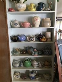 Teapot collection (Hall, English, California, Pottery)
