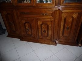 CLOSEUP OF CHINA CABINET