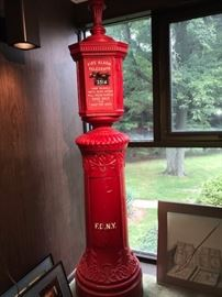 Original vintage NYC fire call box