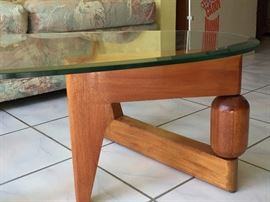 Rare table from the early fifties.Legs can be positioned to your liking