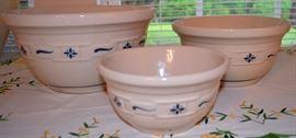 Longaberger Mixing Bowls - 3