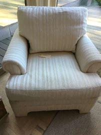 """Sherrill Striped Arm Chair 33""""L 37""""w"""