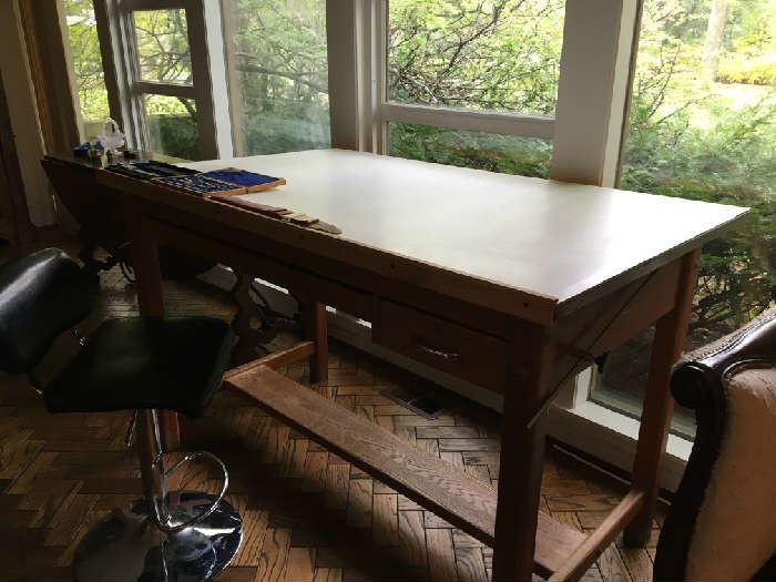 Mayline Company Drafting Table made in Sheboygan Wisconsin