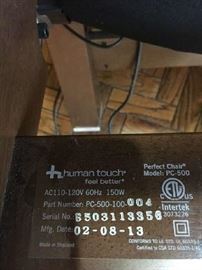 Human Touch Perfect Chair Model PC-500