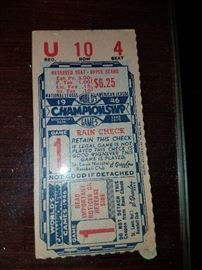 1946 St. Louis Cardinals vs. Boston Red Sox Game 1 ticket stub. House and basement  is packed full of collectibles!!