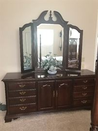 Triple Dresser and tri-fold mirror                                                                   STILL AVAILABLE