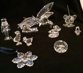 On Saturday we will have some Swarovski Crystal  pieces...