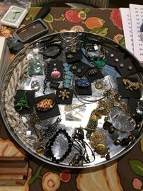 A variety of jewelry, vintage to newer and costume to sterling