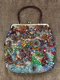 Fabulous vintage heavily beaded purse. Some of the beads are 100 years old!
