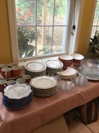 Glassware and some china