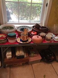 Pasta bowls and pottery