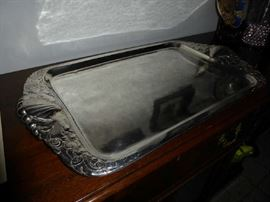 "Rare Sterling Silver Peer Smed tray dated 1932 28""x161/2"".  Just wonderful."